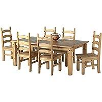 Corona 1,8m tavolo Set 6sedie in legno