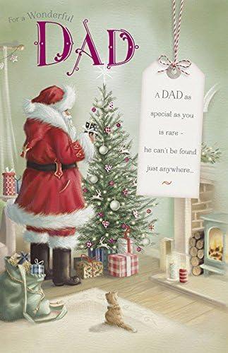 Kaifu accueille à la maison avec Fu Dad Père Noël carte de Noël | Respectueux De L'environnement