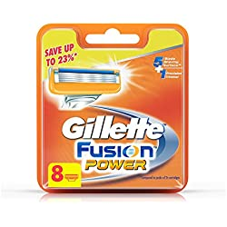Gillette Fusion Power shaving Razor Blades - 8s Pack (Cartridge)