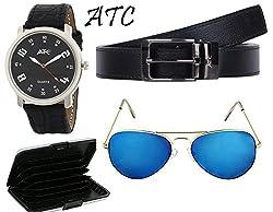 combo of sunglass,watch,belt and cardholder(B-01)