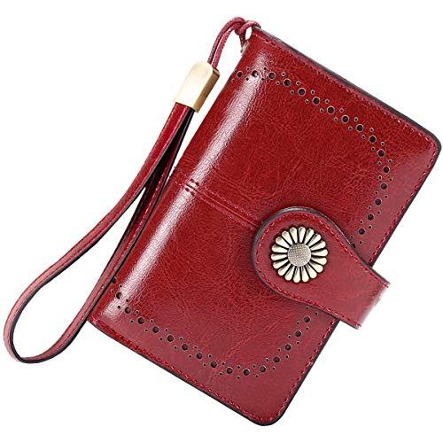 Cartera Mujer Mediana Bloqueo RFID Billeteras Mujer