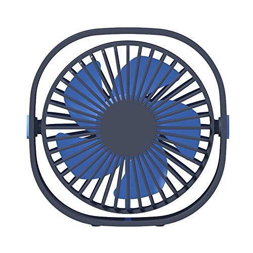 DuHLi Computer-Desktop-USB-Mini-Lüfter 360-Grad-Rotationsanpassung-Mini-Lüfter Home-Office-USB-Desktop-Lüfter Stille 3 Geschwindigkeit Variable Geschwindigkeit Wind,Blue - Variable Geschwindigkeit Lüfter