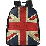 InterestPrint British Union Jack Flag PU Leather Custom Backpack Kids 1-2 Bag Daypack(Small)