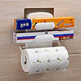 #10: HOME CUBE® 1 Pc Kitchen Rack Wall Hook Paper Hanger Plastic Wrap Rack Hanging Holder Organizer Shelf for Kitchen Bathroom with Powerful Magic Sticker. (SQ-5080)