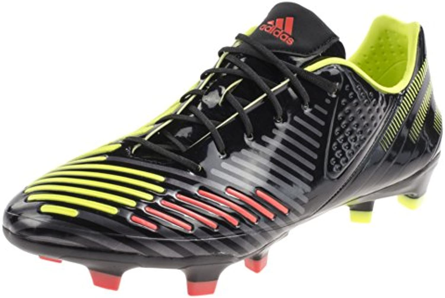 Adidas PREDATOR LZ TRX FG SL Negro Amarillo Rojo Men Zapatillas Football