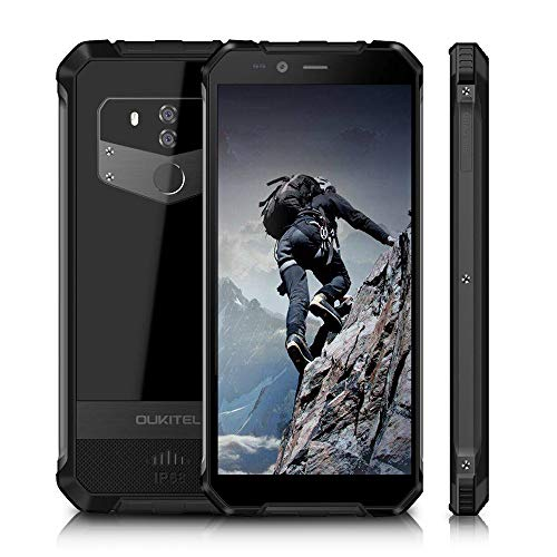 OUKITEL WP1-2019 Rugged Smartphone 4G(4GB + 64GB), Cellulare Resistenti Dispaly 5,5' HD+ 18: 9, Impermeabile IP68/Antipolvere/Antiurto con Android 8.0 Batteria 5000mAh Dual Sim Ricarica Wireless