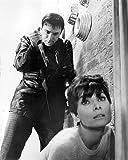 Moviestore Audrey Hepburn als Susy Hendrix unt Alan Arkin als Roat/Roat Jr./Roat Sr. in Wait Until Dark 50x40cm Schwarzw