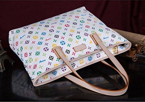 X&L Women's Mode einfach Joker Handtasche Umhängetasche white seven color