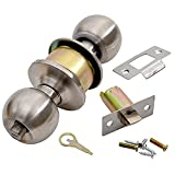 #8: Klaxon Tubular Stainless Steel Door Lock (Silver, Matte Finish, Pack of 2)