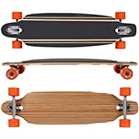 MAXOfit® Deluxe Longboard Safari No.57, Drop Through, 91,5 cm, 9 stratti, ABEC11 - Azione Longboard Skateboard