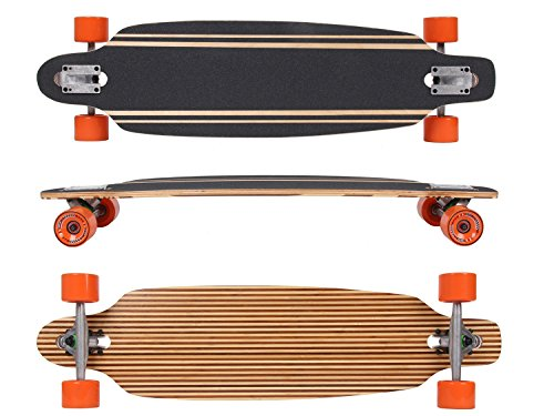 MAXOfit Deluxe Longboard Safari No.57, Drop Through, 91,5 cm, 9 stratti, ABEC11