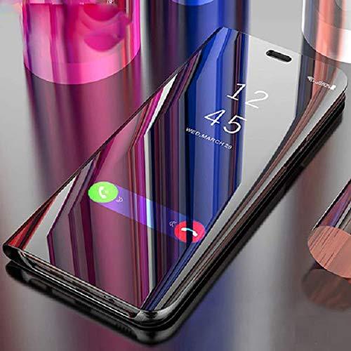 Axxeum Mirror Clear View Flip Phone Back Case for Samsung Galaxy J7 Max (Non-Sensor Black) (Axxeum_DRVCB_13)