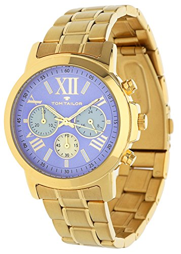 Tom Tailor Femmes Montre Chronograph Or 5416403