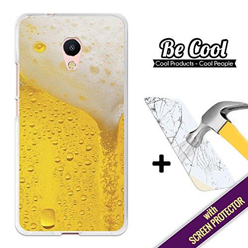 BeCool Custodia Cover [ Flessibile in Gel ] per Meizu M5s [ +1 Pellicola Protettiva Vetro ] Ultra Sottile Silicone,protegge e si adatta alla perfezione al tuo Smartphone. Birra bionda.