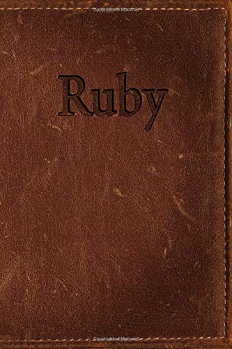 Ruby: Simulated Leather Writing Journal por Rob Cole