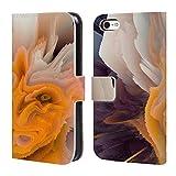 Head Case Designs Offizielle Haroulita Gelbe Blueten Blumige Panne Brieftasche Handyhülle aus Leder für iPhone 5c