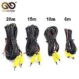 Cable de v/ídeo RCA para c/ámara de aparcamiento de visi/ón trasera 15 m Asiright