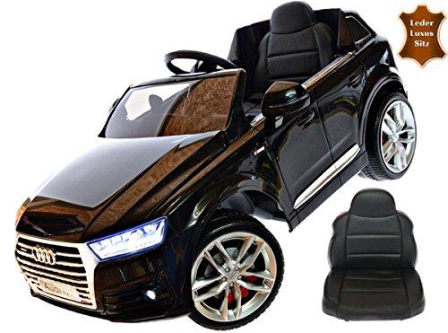*Kinderfahrzeug 12V Kinder Elektro Auto Audi Q7 EVA Gummiräder Ledersitz Kinderauto Elektrofahrzeug 2,4 GHZ schwarz Steuerung*