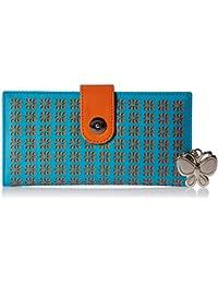 Butterflies Women's Wallet (Blue) (BNS 2345BL)