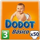 Dodot Basique–Couches, Taille 3(4–10kg), Lot de 50