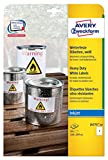 Avery Zweckform J4775-10 Wetterfeste Folien-Etiketten (A4, 10 Stück, 210 x 297 mm) 10 Blatt weiß