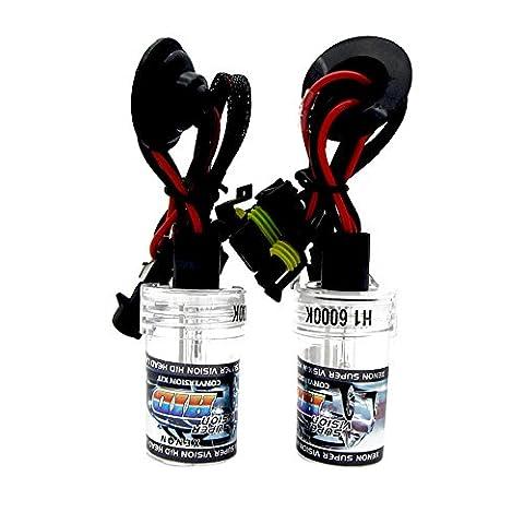 Ampoules de remplacement 55W xénon HID lampe pour H1H3H4H7H8H9H11H13HB3HB490049007900590065202880881Blanc brillant lumières avec 5000K 6000K 8000K, blanc 55.00 wattsW, 12.00 voltsV