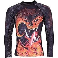 Tatami Rashguard balrog–Rash Guard BJJ MMA Grappling Camiseta interior Compresión Hombre, color Negro, tamaño extra-large