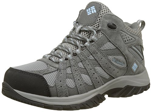 Columbia Canyon Point Mid Waterproof, Scarpe da Trekking da Donna Impermeabili, Grigio (Light Grey/Oxygen), 39 EU