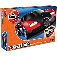 Airfix J6020 Quick Build Bugatti Veyron Model, Black/Red