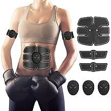 Hommie EMS Stimolatore Muscolare, Addominale Tonificante Cintura ABS, Trainer Wireless Portatile per Addome/Braccio/Gamba per Uomo o Donna(Nero)