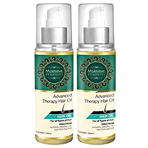 Morpheme Remedies Advanced Therapy Hair Oil - 100ml (Anti Hair Fall, Hair Loss & Hair Repair) x 2 Bottles
