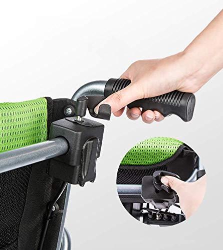 Lunzi Voyager - Ultra portatile pieghevole sedia a rotelle elettrica-Freno elettromagnetico in piedi due ruote freno a mano aereo approvato (Voyager), doppio controllo, Greenb,Greenb,Doppio controllo