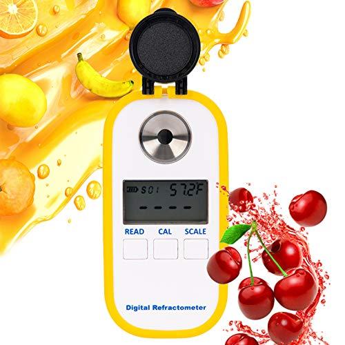 Beslands Brix-Meter DR101 - Refractómetro de café, ATC, Contenido de azúcar, analizador...