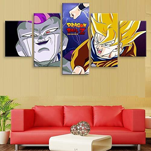 5 Stücke Leinwanddrucke Wandkunst Malerei Dragon Ball Dead Zone Poster Decoration Der Kunstdruck Ist Fertig Gerahmt,E,150x80cm/60x24