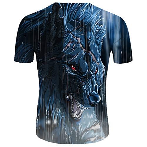 Herren T-Shirts 3D Muster Kurzen Ärmels Kurzarm Shirt Sport Fitness T-Shirt Rundhalsausschnitt Lässige Graphics Tees (Captain America Super Soldier Kostüm)