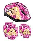 Kinder Fahrrad Helm + Protektoren Ellenbogen Knie Schützer Schoner Disney Barbie