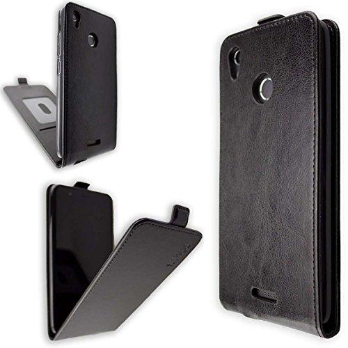 caseroxx Hülle/Tasche Flip Cover passend für Gigaset GS270 / GS270 Plus, Schutzhülle (Handytasche klappbar in schwarz)