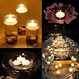 HuaYang 10 STK romantische Hochzeits Festival Party Bar Nachtclub Dekor Ornament Bight Schwimmkerze (weiß)
