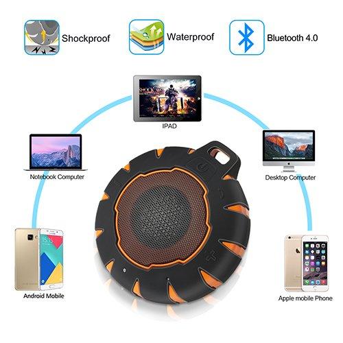 Lautsprecher Bluetooth IP67 Portable Mini HIFI Wireless Bluetooth 4.0 Lautsprecher Wasserdicht Geeignet für Pool Freihand