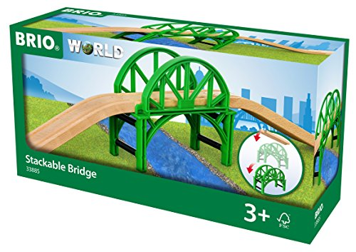 Brio World- Pont EMPILABLE avec Rails, 33885