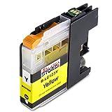Premium Druckerpatronen Kompatibel für Brother LC-123 / LC123 / LC 123/125 / 127 XL Gelb Yellow