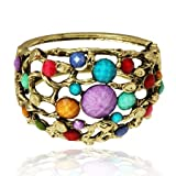 Special Multicoloured Vintage Style Bangle Bracelet
