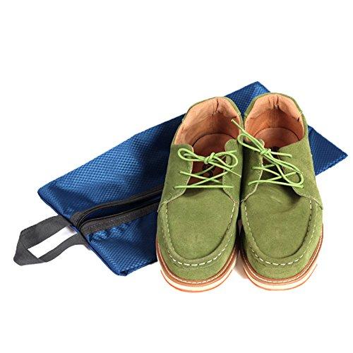 Gosear 4 Stk Portable Frauen Männer Schuh Taschen Große Kapazität Nylon Tägliche Leben Wasserdicht Schuhe Fall Beutel Veranstalter mit Reißverschluss Schließung für Haus Reisen Geschäft Reise A