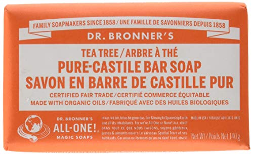 Soap-schaumbad Shampoo (Dr Bronners Magic Soap All One Obtt05 5 Oz Tea Tree Dr. Bronner'S Bar Soap by Dr. Bronner's)