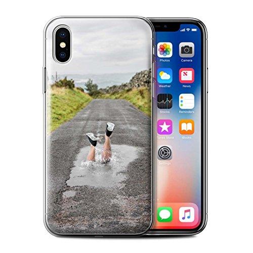 Stuff4 Gel TPU Hülle / Case für Apple iPhone X/10 / Londons Brenn Muster / Vorstellen Kollektion Spritzen