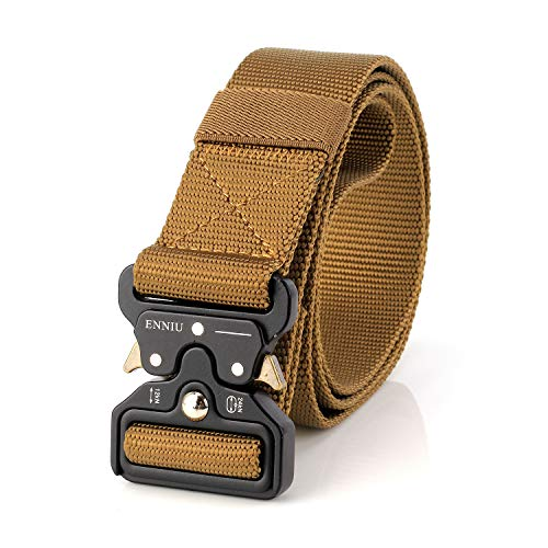 Männer Tactical Gürtel Heavy Duty Gurtband Gürtel Einstellbare Military Style Nylon Gürtel, Braun, Einheitsgröße -
