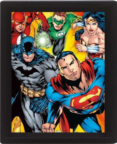 Dc Comics Heroes 10 x 8 cm Framed 3D Lenticular Poster