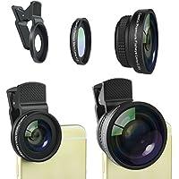 Premium universale 2in1 Kit Obiettivo di macchina fotografica per iPhone, iPad, Samsung Galaxy e altri smartphone o tablet - Qualità Premium Fish Eye e Macro Lens - custodia metallica e lenti in vetro di alta qualità (Premium Fish Eye e Macro Lens)