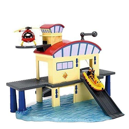 feuerwehrmann sam rescue center Dickie Toys 203099616 - Feuerwehrmann Sam Ocean Rescue Set, Spielset mit Haus