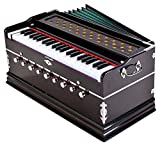 Jyotaksh Store 9 Stopper, Chudidaar Bellow 42 key 2 Reed Bass Male Kapler Harmonium with Cover (Natural)